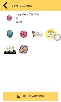 New Year Stickers 2019 For WhatsApp - WAStickerApp screenshot 5
