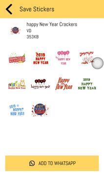 New Year Stickers 2019 For WhatsApp - WAStickerApp screenshot 6