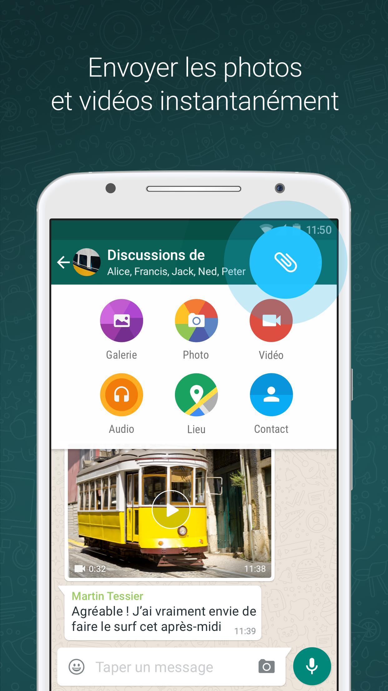 WhatsApp pour Android - Téléchargez l'APK