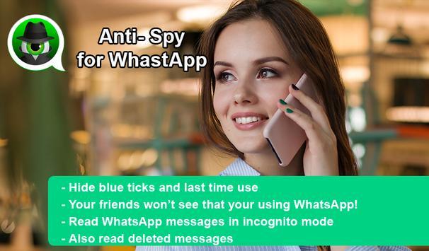 مكافحة التجسس على WhatsApp  إخفاء آخر مشاهدة الملصق