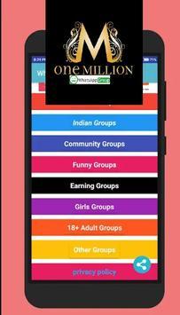 WhatsApp 1million Group  Join poster