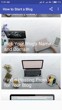 Start Blogging And Earn Money 2019 screenshot 1