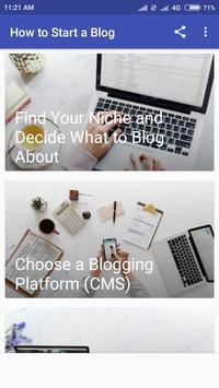 Start Blogging And Earn Money 2019 screenshot 8