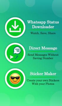 Status Saver, Sticker Maker for Whatsapp poster
