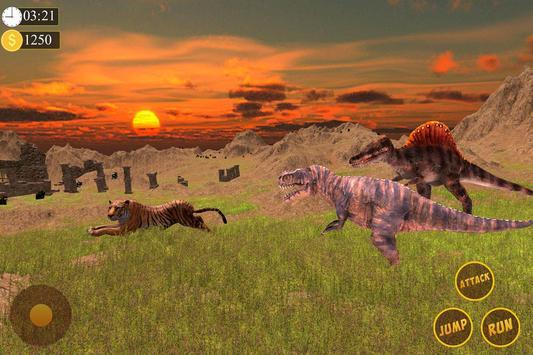 Tiger Vs Dinosaur - Wild Jungle Adventure screenshot 8