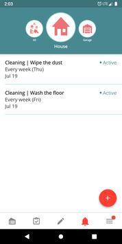 Housekeeping. Planner & reminder household chores screenshot 5