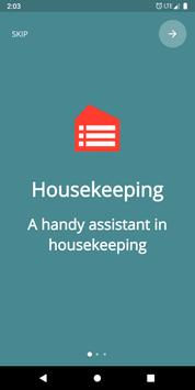 Housekeeping. Planner & reminder household chores poster