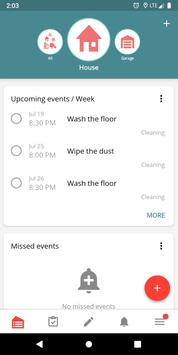 Housekeeping. Planner & reminder household chores screenshot 1