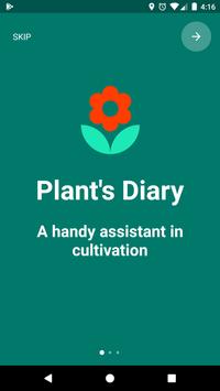 House plants - gardener diary, herbs, grower poster