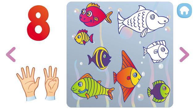 Matemáticas y números para niños. Aprender numeros captura de pantalla 2