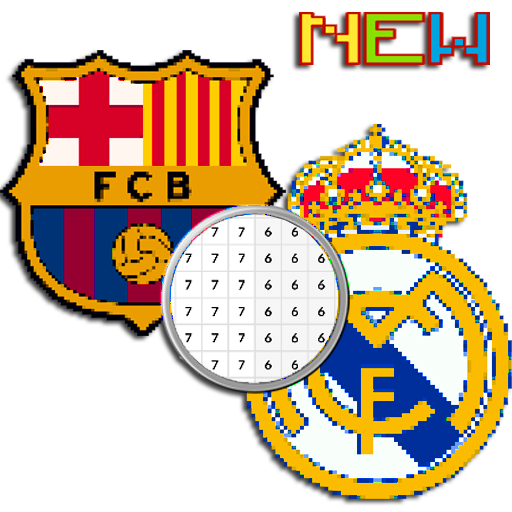Football Logo Coloring Color By Number Pixel Art Apk 81