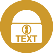 Text Lock icon