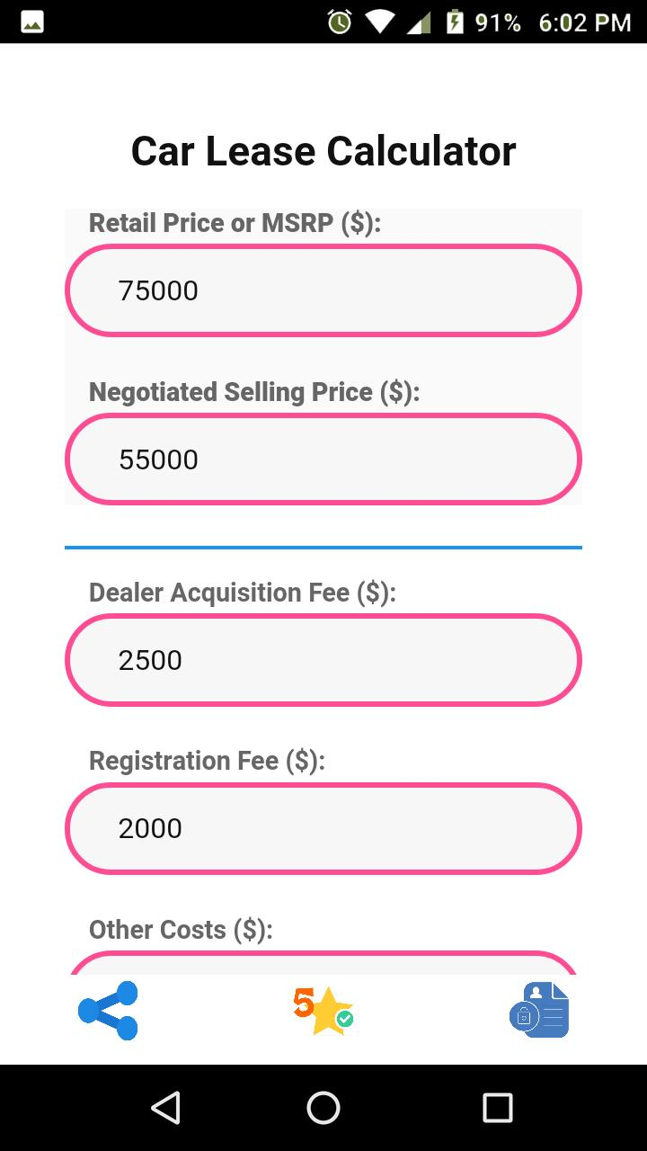 Car Lease Calculator >> Car Lease Calculator For Android Apk Download