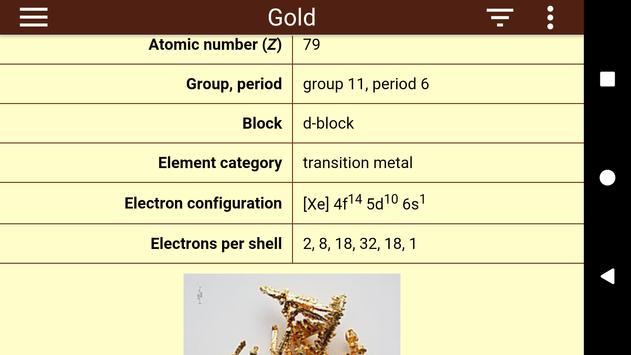 Periodic Table Ekran Görüntüsü 1