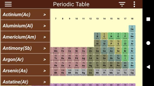 Periodic Table Ekran Görüntüsü 2