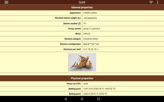 Periodic Table Ekran Görüntüsü 6