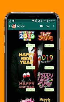 Happy New Year & Christmas Stickers WAStickersApps screenshot 3