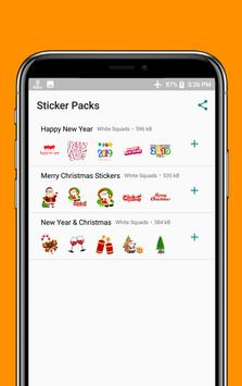 Happy New Year & Christmas Stickers WAStickersApps poster