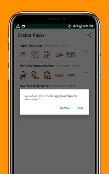 Happy New Year & Christmas Stickers WAStickersApps screenshot 6