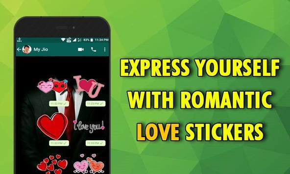 Romantic Love Stickers Screenshot 3