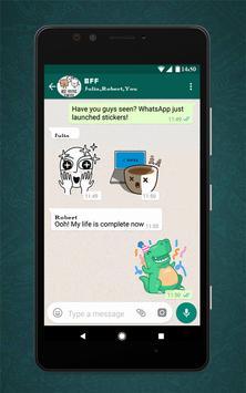 Free Messenger Whats Stickers New скриншот 3