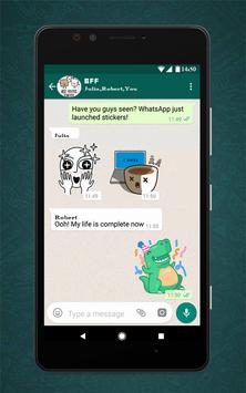 Free Messenger Whats Stickers New скриншот 1