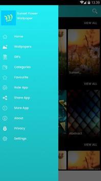 Sunset Flower Wallpaper screenshot 1