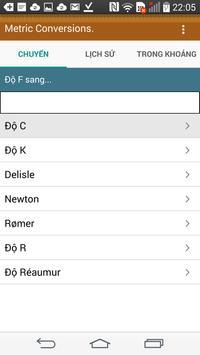 Chuyển đổi đơn vị - Miễn phí App Chuyển đổi Metric ảnh chụp màn hình 2