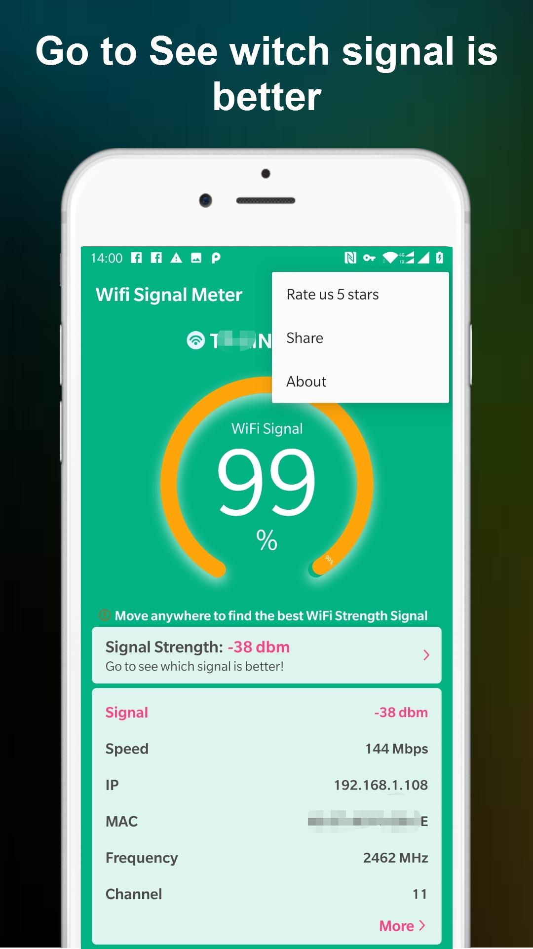Wifi Signal Strength Meter Pro No Ads For Android Apk Download