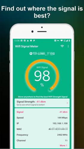 WiFi Signal Strength Meter - Network Monitor for Android