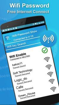 عرض خريطة Wifi وكلمات المرور: مفتاح كلمة مرور Wifi تصوير الشاشة 2