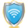 ochrona i połączenie WiFi ikona