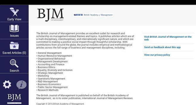 British Journal of Management for Android - APK Download