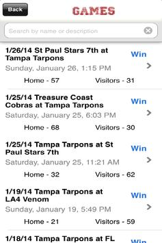 Tampa Tarpons screenshot 6
