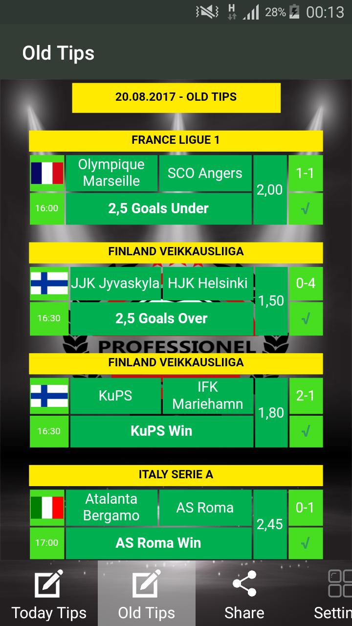 Professional betting tips apk downloader what is an each way bet on first goalscorer