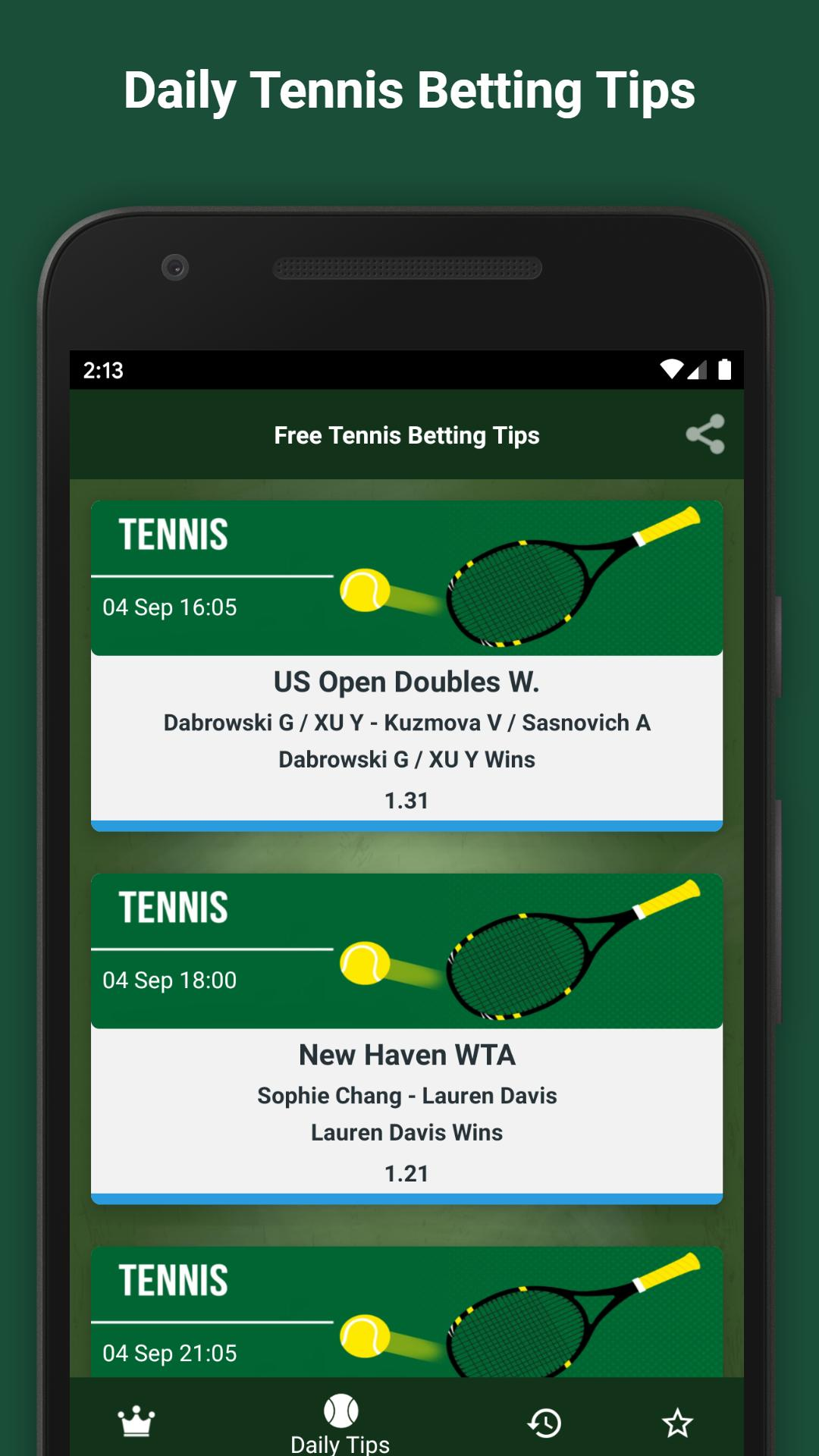 Free tennis betting tips gambling betting progressions