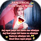 My Photo Rain Lyrical Video Status Maker icon