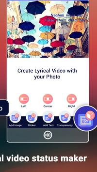 My Photo Rain Lyrical Video Status Maker screenshot 3