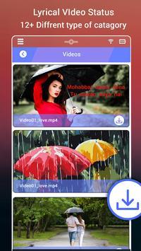 My Photo Rain Lyrical Video Status Maker poster