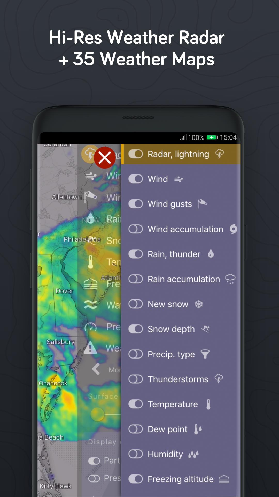 Windy com - Wind, Waves and Hurricanes Forecast cho Android - Tải về APK