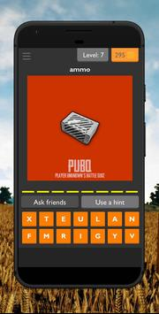 PUBQ - Player Unknown's Battle Quiz screenshot 1