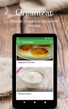 Recetas Vegetarianas y Veganas captura de pantalla 19