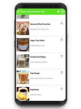 Resep Aneka Minuman Kopi Cafe screenshot 1