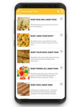 Resep Jamur Tiram screenshot 1