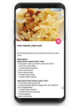 Resep Jamur Tiram screenshot 2