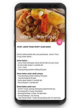 Resep Jamur Tiram screenshot 3