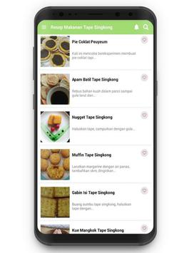 Resep Makanan Tape Singkong screenshot 1
