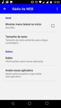 Rádio ita WEB screenshot 2