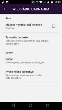 WEB RÁDIO CARNAUBA screenshot 2