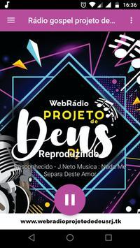 Rádio gospel projeto de Deus RJ poster